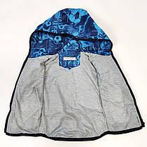 Детская куртка ветровка для мальчика синяя мяч 5-6 лет, фото 3