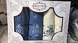 Набір Рушників Для Особи (2 шт) Лазні (2 шт) в Коробці Сімейний Подарунок Бавовна Махрові Туреччина, фото 4