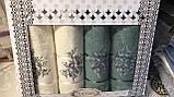 Набір Рушників Для Особи (2 шт) Лазні (2 шт) в Коробці Сімейний Подарунок Бавовна Махрові Туреччина, фото 5