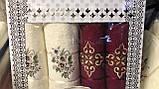 Набір Рушників Для Особи (2 шт) Лазні (2 шт) в Коробці Сімейний Подарунок Бавовна Махрові Туреччина, фото 7