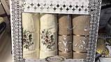Набір Рушників Для Особи (2 шт) Лазні (2 шт) в Коробці Сімейний Подарунок Бавовна Махрові Туреччина, фото 10