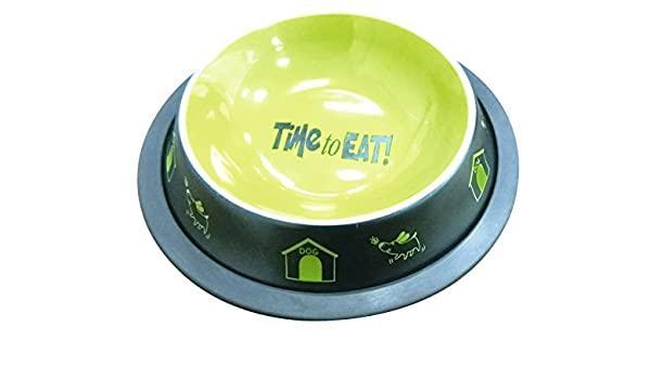 Миска для собак и кошек зеленая CROCI Fancy, 450 мл Croci