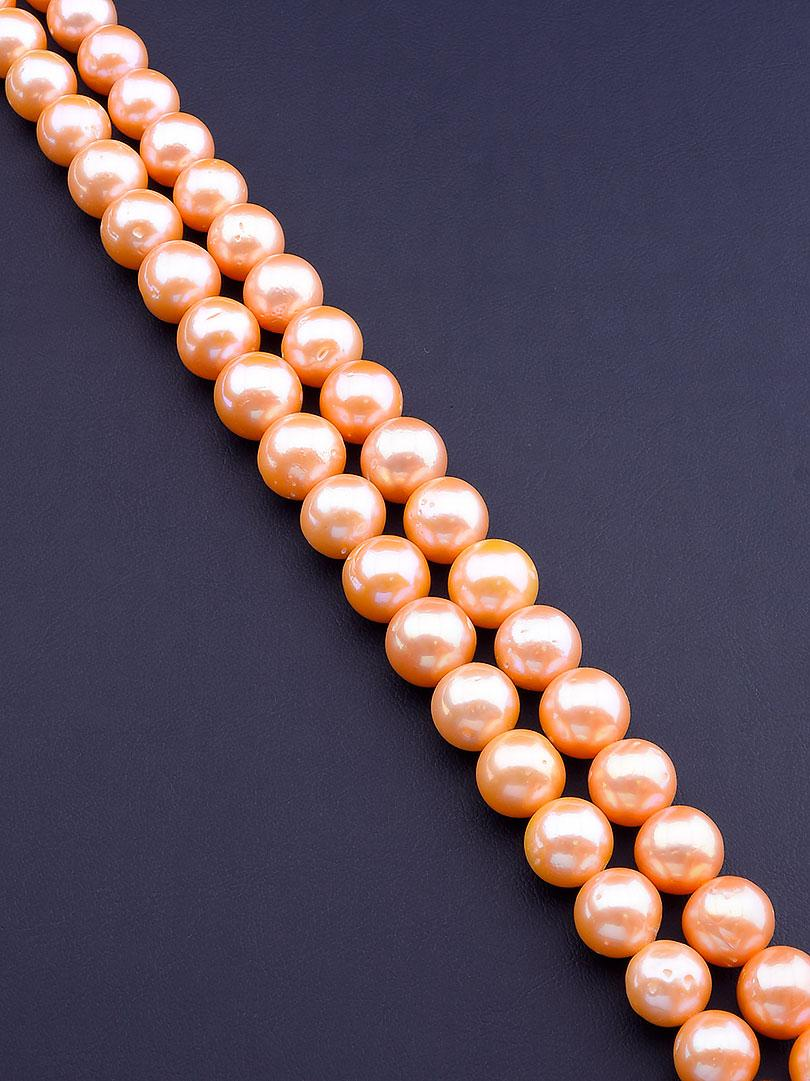 Заготовка для бус и браслетов нить из натурального камня Жемчуг 40 см 13 мм  сертификаты на камни