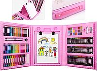Детский набор для рисования в чемоданчике с мольбертом (большой 208 предметов)