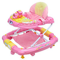 Детские ходунки-качалка M 0538-1-розовые