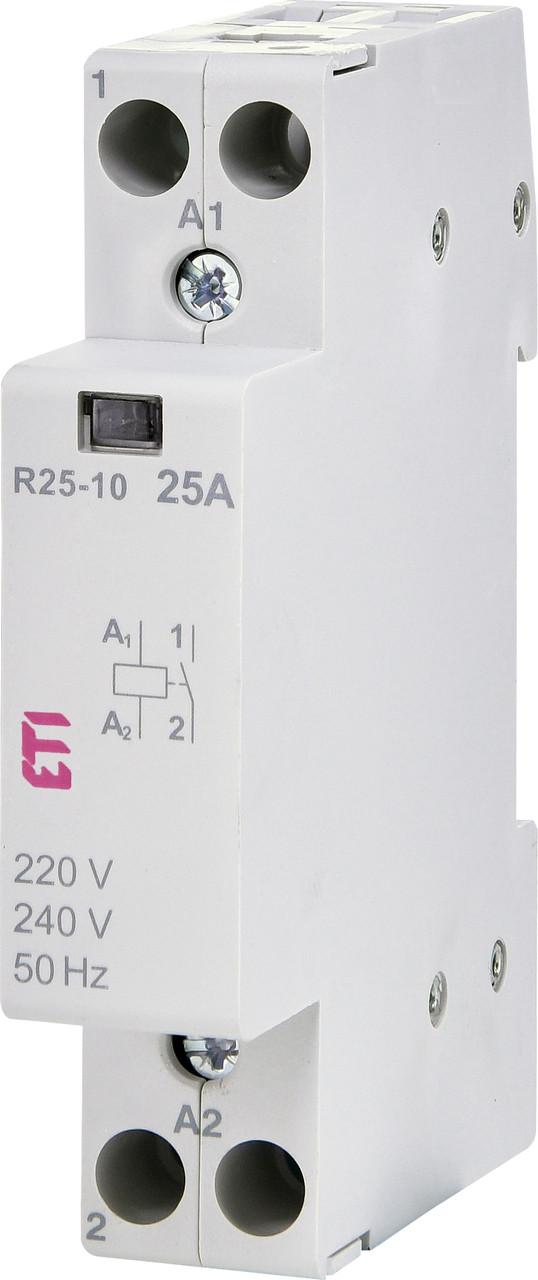 Контактор ETI R 25-10 1P 25А 230V AC 1NO 2463500 (силовой модульный, на din-рейку)