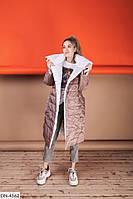 Женская модная двусторонняя зимняя куртка - пальто