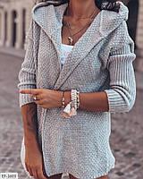 Модный женский вязанный кардиган в актуальных расцветках