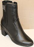 Ботинки женские кожаные зима от производителя модель БМ344, фото 4