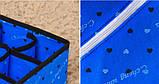 Набор из трех органайзеров для хранения нижнего белья, носков , платков синий, фото 3