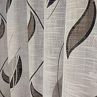 Плотный тюль-штора из льна с купоном (перевертыш), фото 1