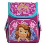 Школьный рюкзак Princess Disney 1 Вересня Sofia rose, для девочек каркасный и ортопедический