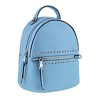 Маленький (мини) женский рюкзак из экокожи, голубой