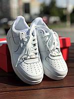 Кроссовки мужске Nike Air Force 1 White белые
