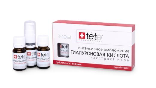 "Сыворотка ""Гиалуроновая кислота + Экстракт икры"" TETe Cosmeceutical Hyaluronic Acid 3х10 ml"