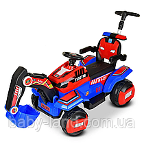 Дитячий електромобіль-Трактор з батьківською ручкою M 4321LR-3-4 Червоно-синій