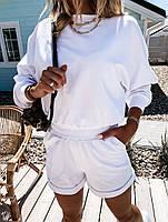 Костюм женский с шортами и укороченным топом, Женский спортивный костюм с укороченным топом и шортами, фото 2