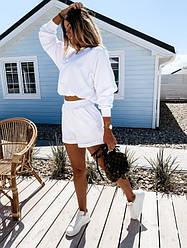 Костюм женский с шортами и укороченным топом, Женский спортивный костюм с укороченным топом и шортами