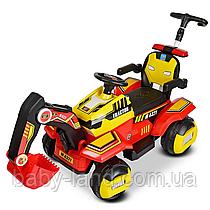 Дитячий електромобіль-Трактор з батьківською ручкою M 4321LR-3-6 Червоно-жовтий