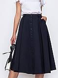 Расклешенная  юбка на застежке пуговицы, фото 4