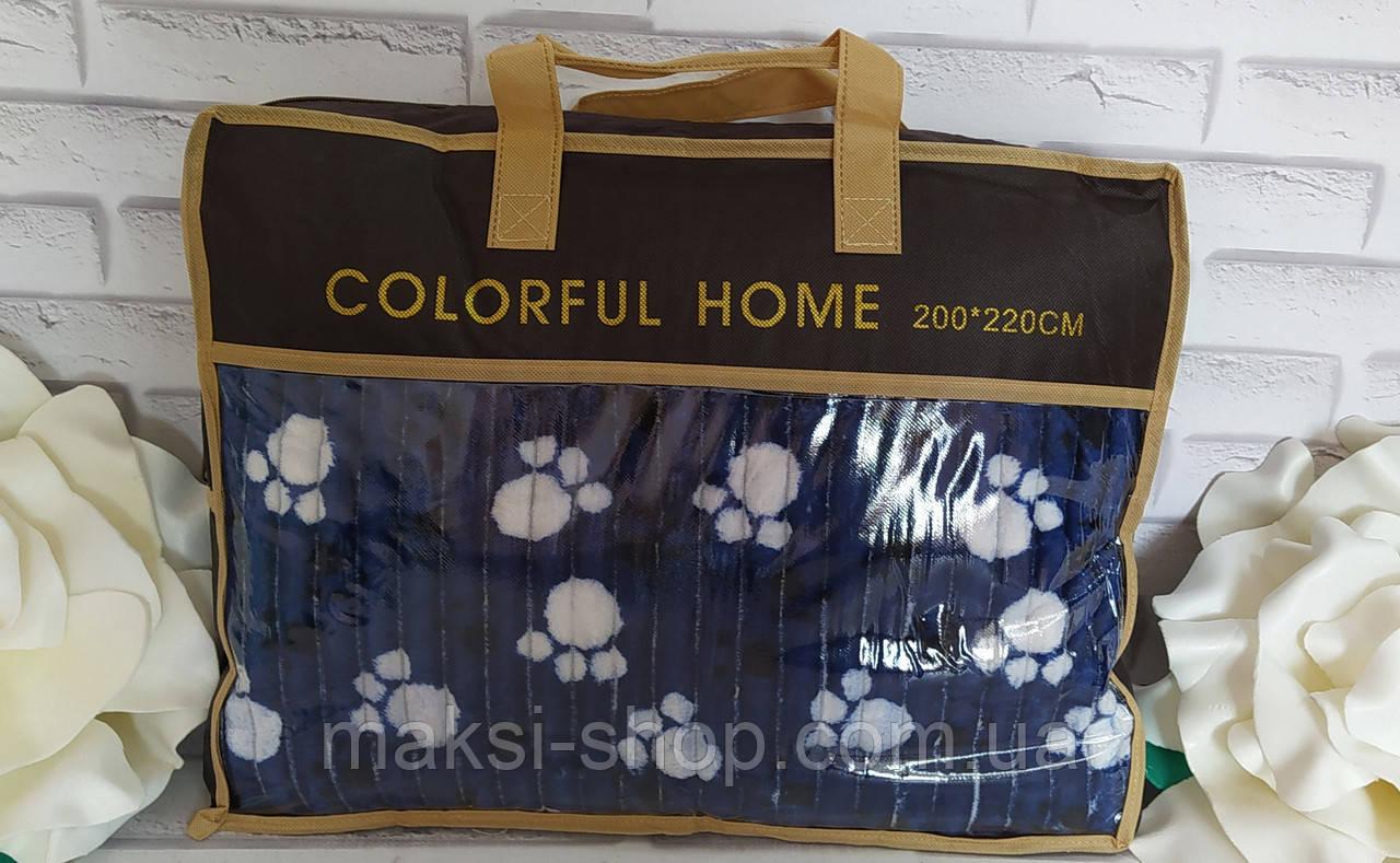 Мягкий плед покрывало микрофибра в подарочной упаковке полуторный 150*200см размер. Colorful Home