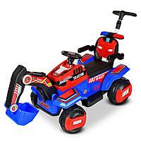 Детский электромобиль и толокар Трактор M 4321LR-3-4 с кожаным сиденьем и мотором на радиоуправлении