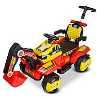 Детский электромобиль и каталка-толокар Трактор M 4321LR-3-6 с кожаным сиденьем и мотором на радиоуправлении