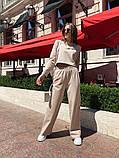 Жіночий спортивний костюм укороченою кофтою з двуніткі 13-313, фото 5