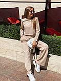 Жіночий спортивний костюм укороченою кофтою з двуніткі 13-313, фото 9