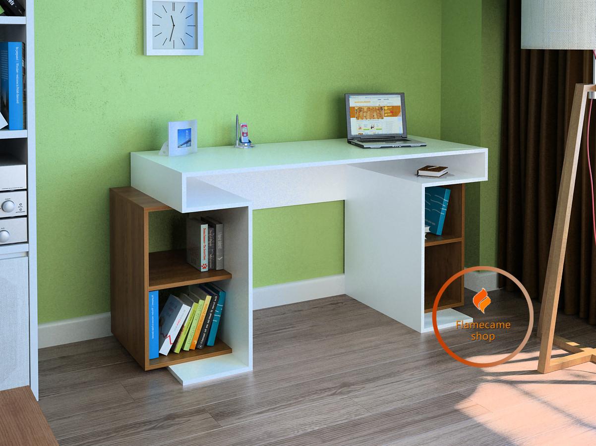 Комп'ютерний стіл з полками з боків з ДСП. Код: LG-47-3192