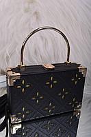 Небольшая женская черная сумка клатч код 7-2014, фото 1
