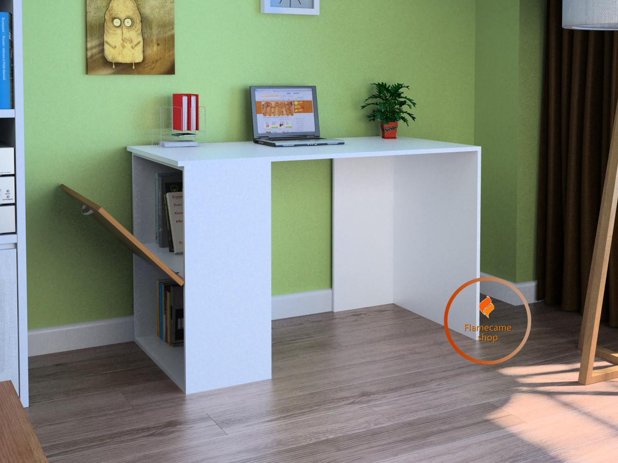 Комп'ютерний стіл з полицею та відкидною дверяцою з ДСП. Код: LG-56-3192