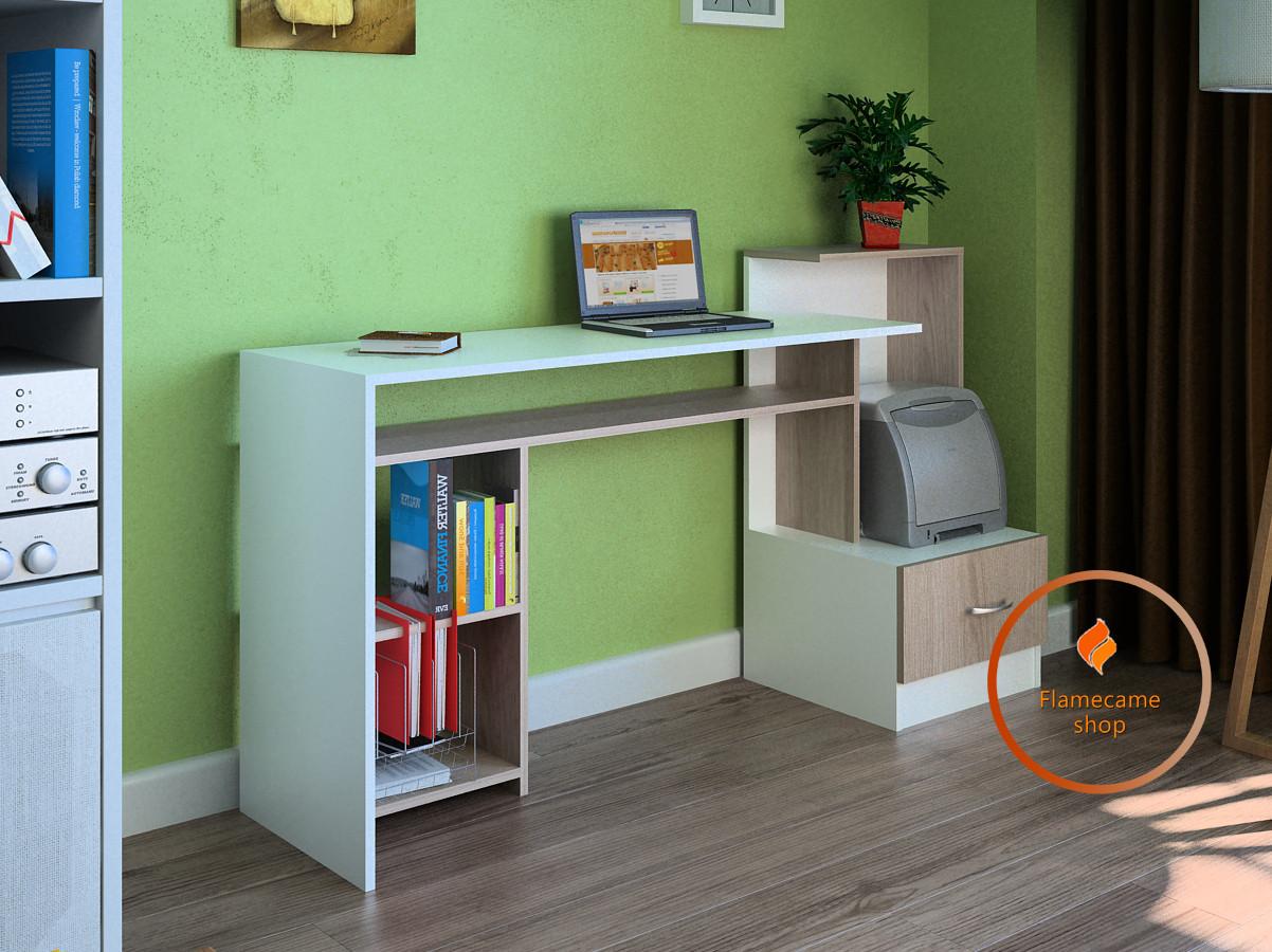 Компьютерный стол с полками и ящиком из ДСП. Код: LG-12-3192