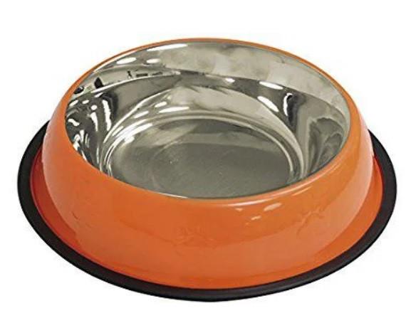 Миска для собак и кошек оранжевая серии CROCI COLLORS 240 мл