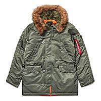 Зимова куртка аляска Alpha Industries Slim Fit N-3B Parka MJN31210C1 (Sage/Orange)