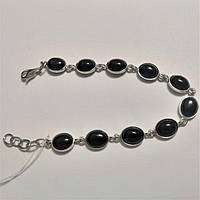 Женский серебряный браслет с ониксом Фаина, фото 1