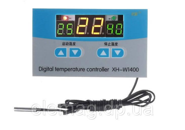 Цифровой термостат XH-W1400  три дисплея -19 ~ 99 °C 220V