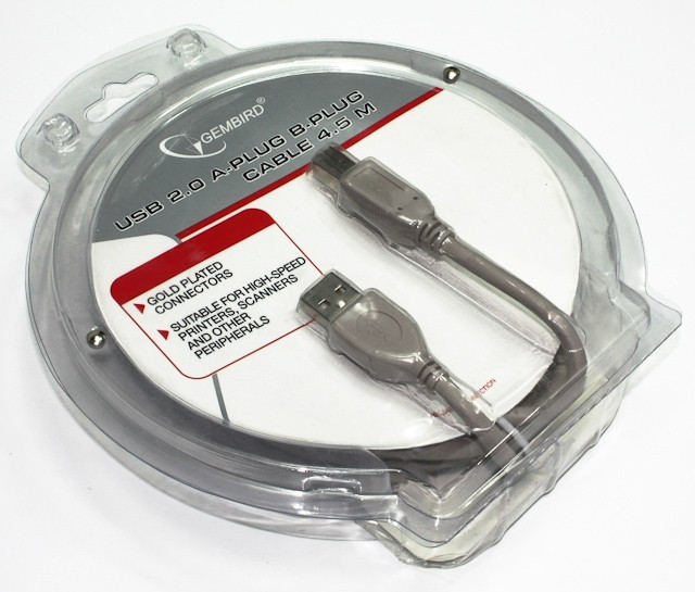 Кабель Cablexpert CCB-USB2-AMBM-10, USB 2.0 A-папа/B-папа, 3 м, блистер