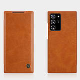 Nillkin Samsung Galaxy Note 20 Ultra Qin leather case Brown Чехол Книжка, фото 4