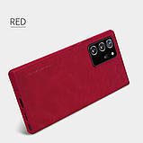 Nillkin Samsung Galaxy Note 20 Ultra Qin leather case Red Чехол Книжка, фото 5