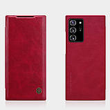 Nillkin Samsung Galaxy Note 20 Ultra Qin leather case Red Чехол Книжка, фото 4