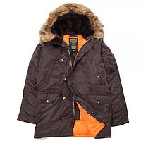 Зимова куртка аляска Alpha Industries Slim Fit N-3B Parka MJN31210C1 (Deep Brown)