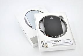 Беспроводное зарядное Fast Charger 002 хром-кольцо Black