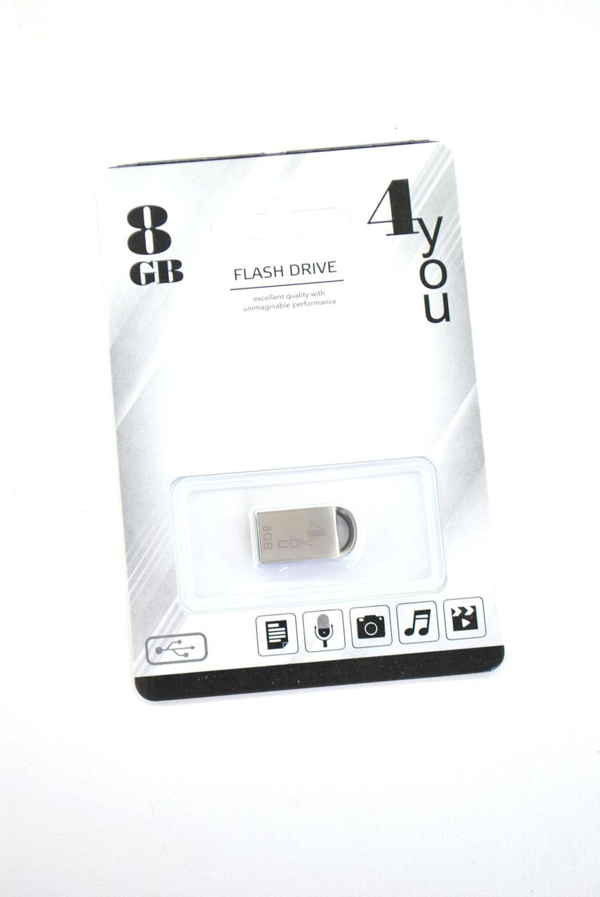 Флеш-накопитель USB 8Gb 4you 107 Metal series