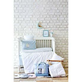 Детский набор в кроватку для младенцев Karaca Home - Dreamer mint ментоловый (7 предметов)