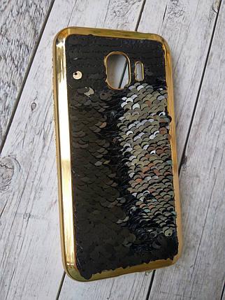 Чехол Samsung J6/J600 (2016) Silicon Remax Reversible Shine Case Black/Silver , фото 2