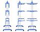Многоярусная сушилка для белья, вещей, одежды Garment rack with wheels  складная, фото 6