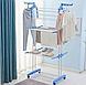 Многоярусная сушилка для белья, вещей, одежды Garment rack with wheels  складная, фото 8