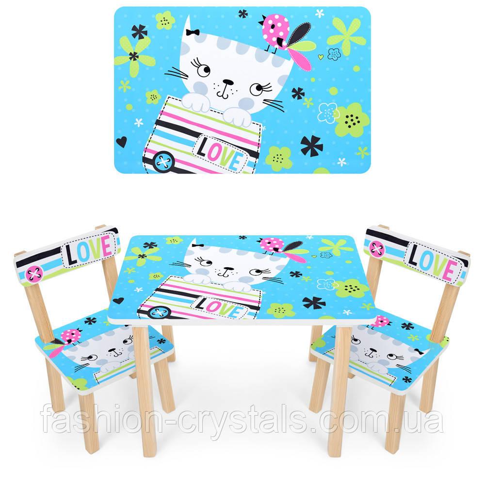 Детский комплект мебели кошка