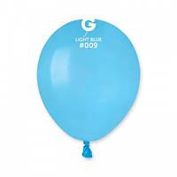 """3"""" (8 см) пастель светло-голубой Gemar Италия латексный шар"""